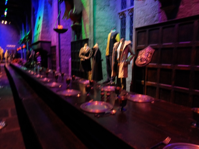 The dining room at Hogwart's